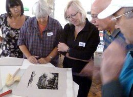 relief printmaking workshop